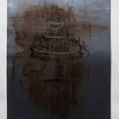Corot's Beer Fountain // Acrylic on Card// 100 x 65 cm // 2013