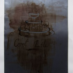 Corot's Beer Fountain // Acrylic on Card// 100 x 65 cm // 2013