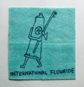 Flash Flood of Fluoride // Dish Cloth & Permanent Marker// 2013