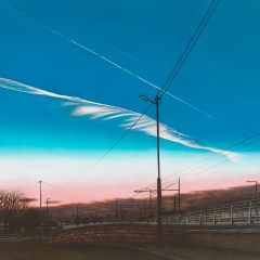 Troubled Cloud Over Ireland's 1st Forgotten Feminist Bridge // Oil on canvas // 103x123cm //