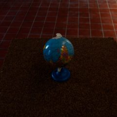 Insulated Isolation //Upside Down Globe, Carpet Tiles // 50 x 120 x 50 // 2006