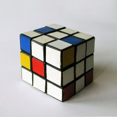 Make Your Own Mondrian // Rubix Cube, Vinyl // 5.7 x 5.7 x 5.7 cm // 1996
