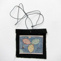 Midi Evil Weather Foe Cast (Meditated Media Medals) // Laminated Digital Print, Felt, Eyelet, Glue, Wire // 10 x 10 cm // 2016
