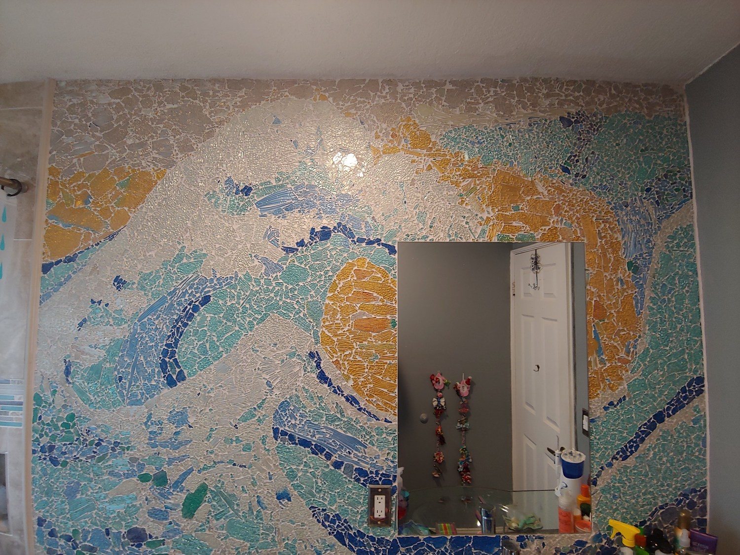 DIY Recycled Glass Mosaic