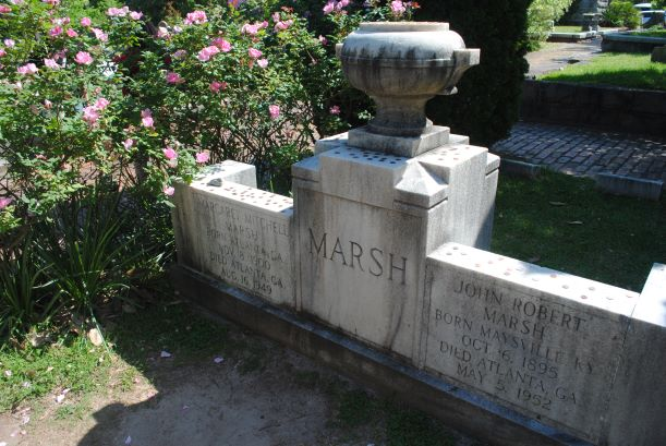 The grave of Margaret Mitchell in Oakland Cemetery