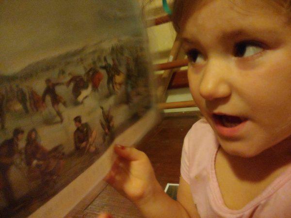 demonstrating art placemat