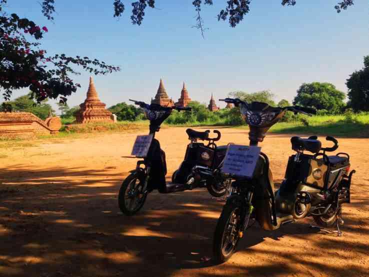 Image result for motorbike in bagan