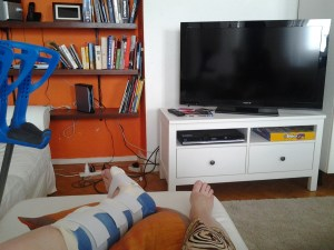 Never Ending Honeymoon   Chilling out in Lyon, France, with a broken leg