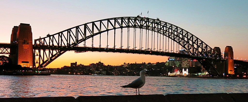 Never Ending Honeymoon | Sydney Harbour Bridge at sunset, Australia