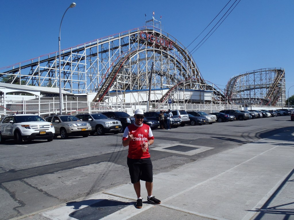 Never Ending Honeymoon | Dan just before he went on the Cyclone at Cony Island