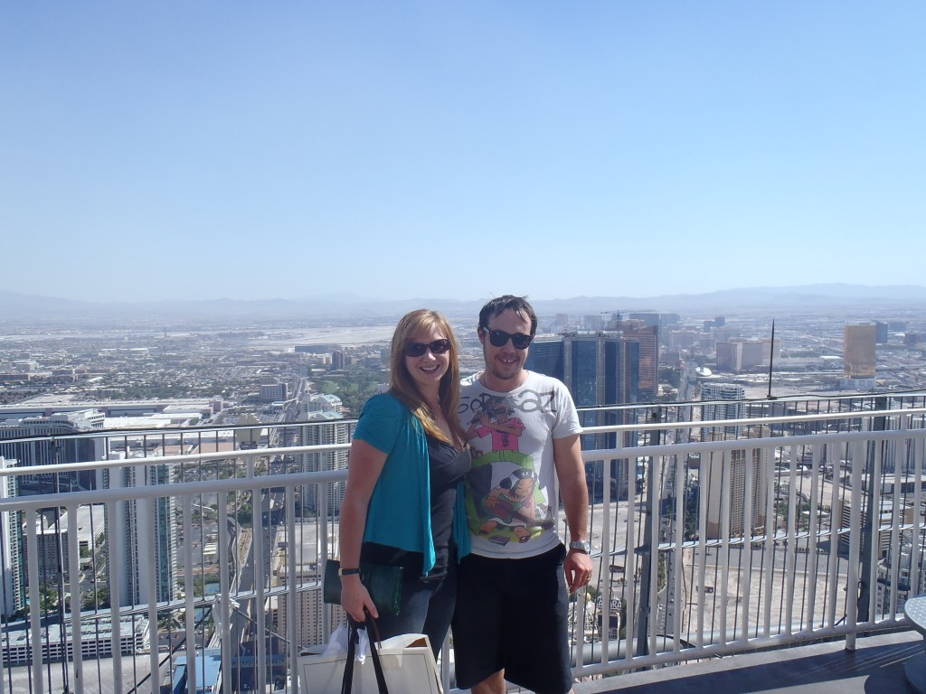 Never Ending Honeymoon | Jacqui and Dan Overlooking Las Vegas
