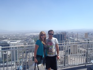 Never Ending Honeymoon   Jacqui and Dan Overlooking Las Vegas