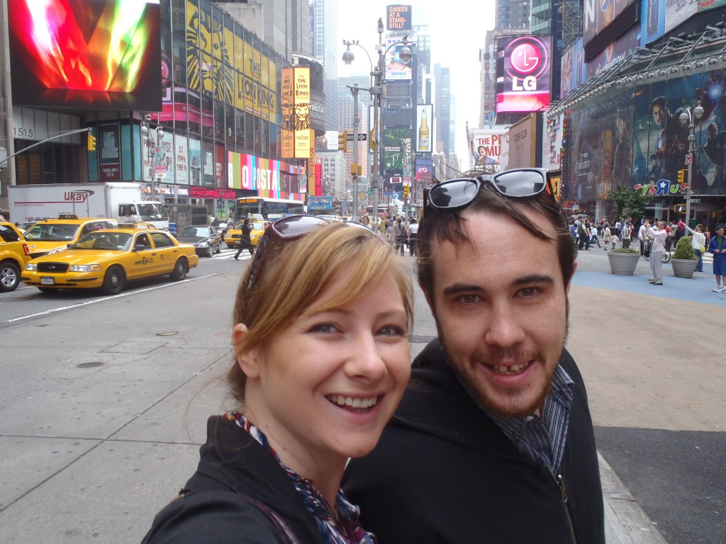 Never Ending Honeymoon | Jacqui and Dan in Times Square, NYC
