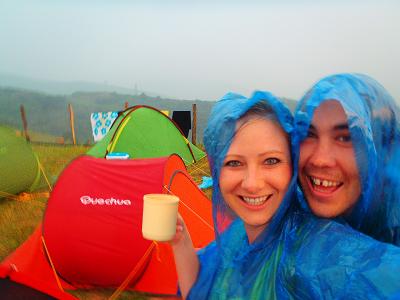 Never Ending Honeymoon | Jacqui and Daniel camping in the rain at BBK Live in Bilbao, Spain
