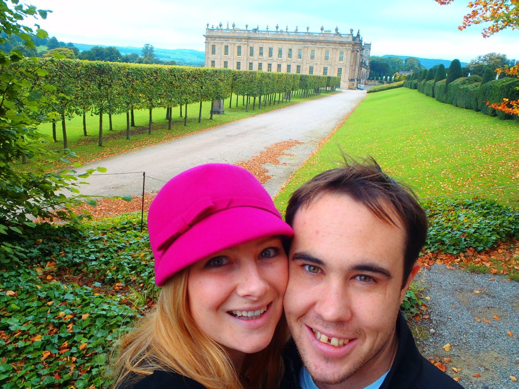 Jacqui and Dan at Chatsworth House. Peak District