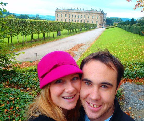 Jacqui and Dan at Chatsworth House. Peak District