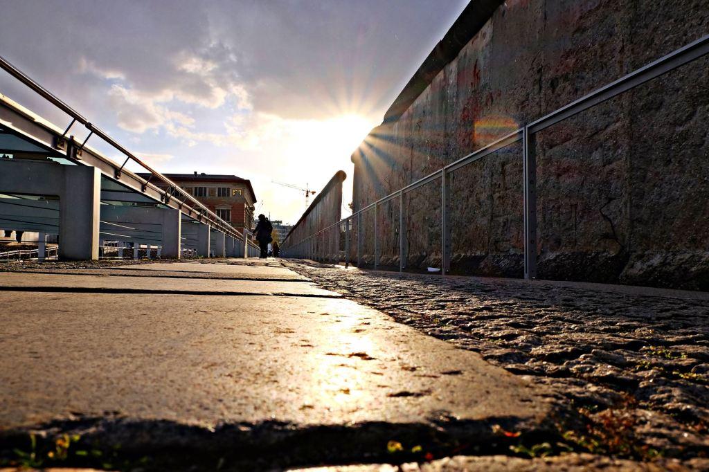 Berlin Wall in the sun neh