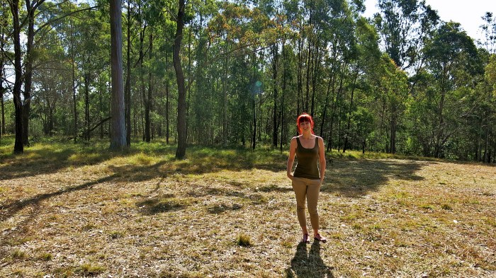 Jacqui in the bush