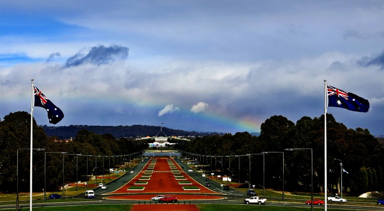 6 Rainbow over Parliament House