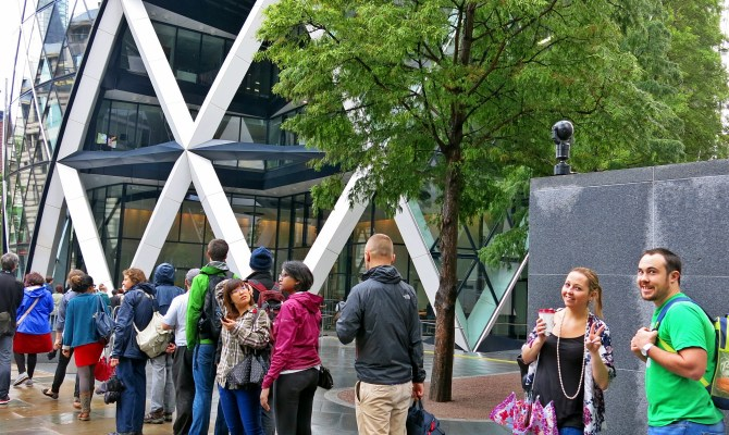 Waiting to enter the Gherkin