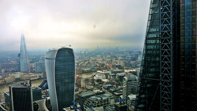 View of London - the Shard, the Walkie Talkie, and the Cheesegrater
