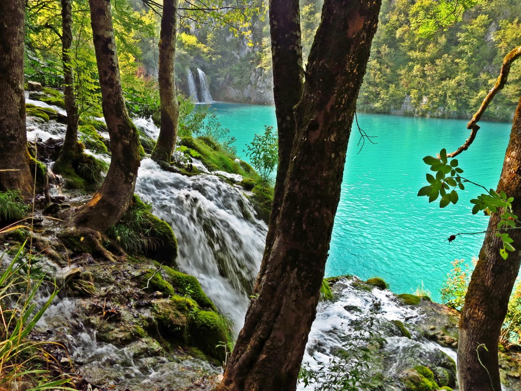 Plitvice Lakes in Croatia, on our camping road trip in the Balkans