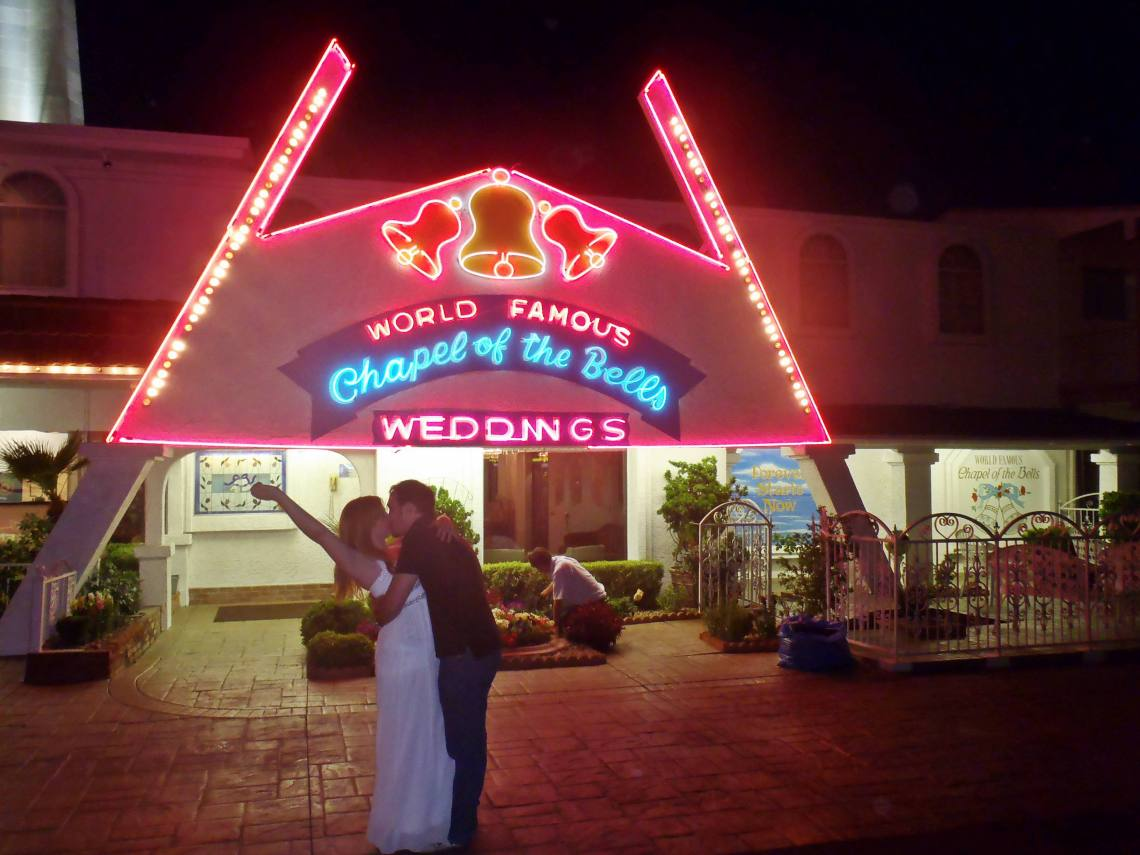 That time we got married at the Chapel of the Bells in Las Vegas!