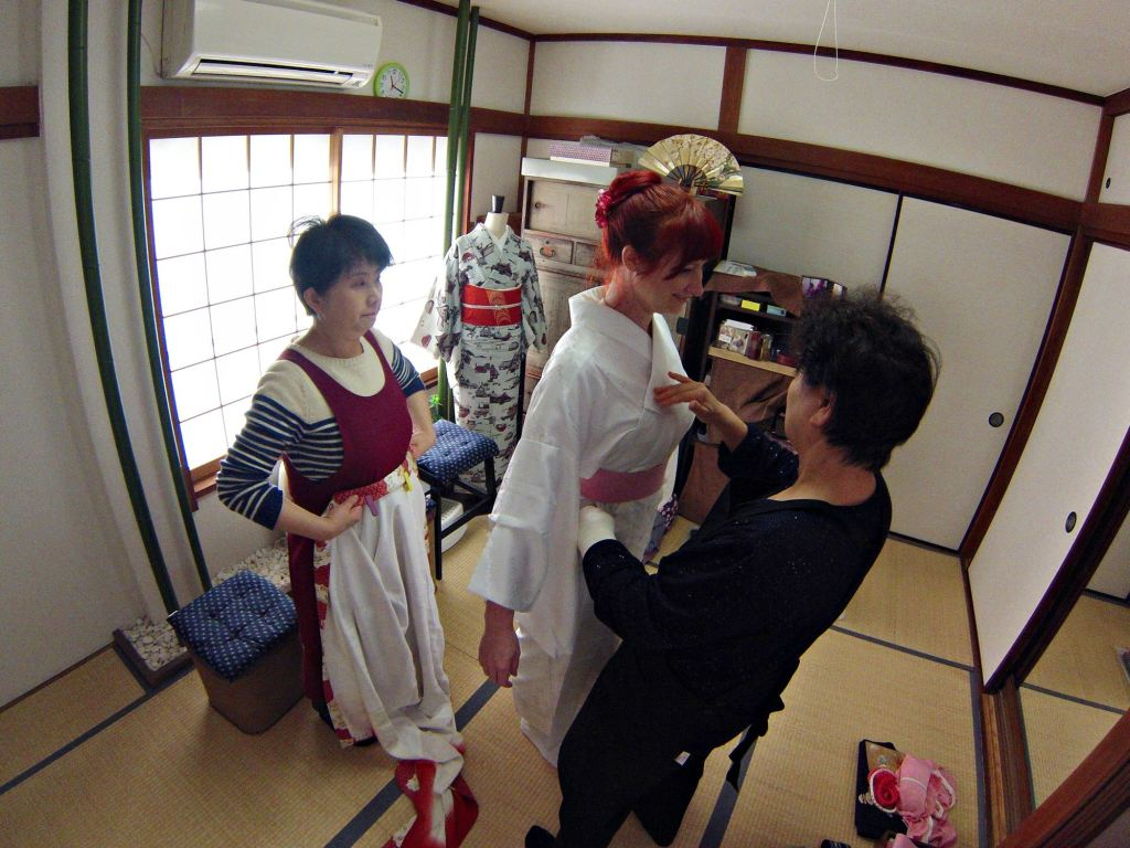 Jacqui in the Kimono