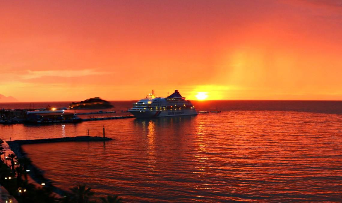 A cruise ship in Turkey