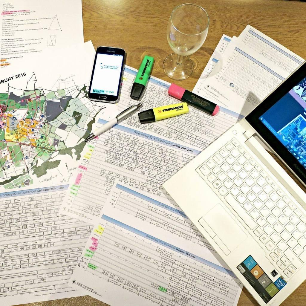 Glastonbury 2016 planning