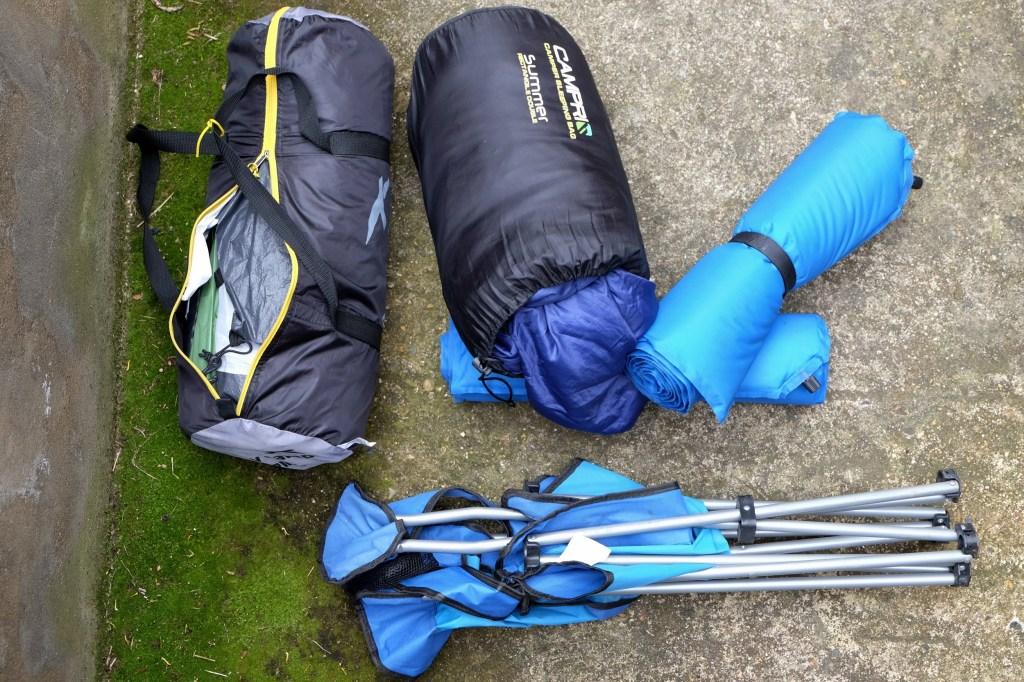 Tent sleeping bag camping mats camping chair