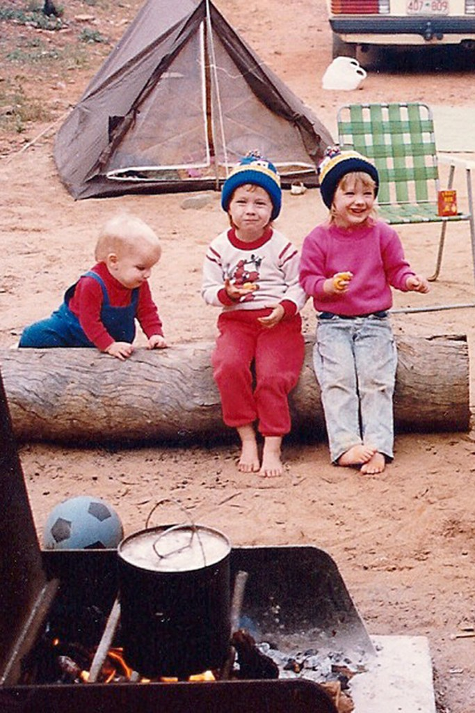 Family camping in 1990.