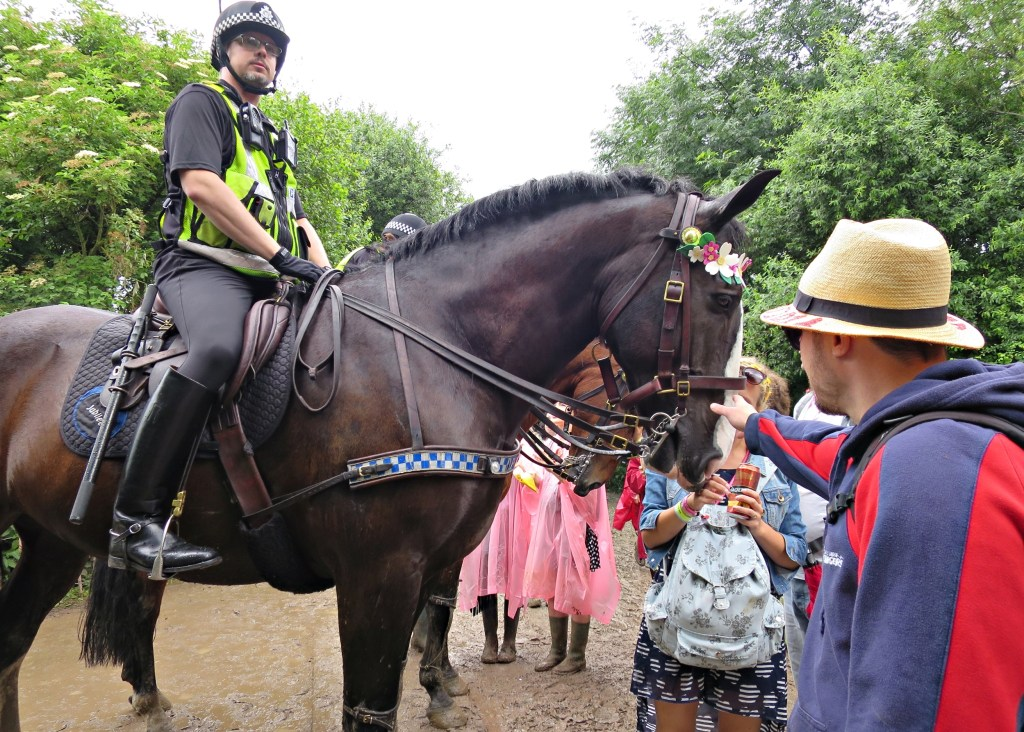 Glastonbury 2016 24 June Friday afternoon 4pm horse WS