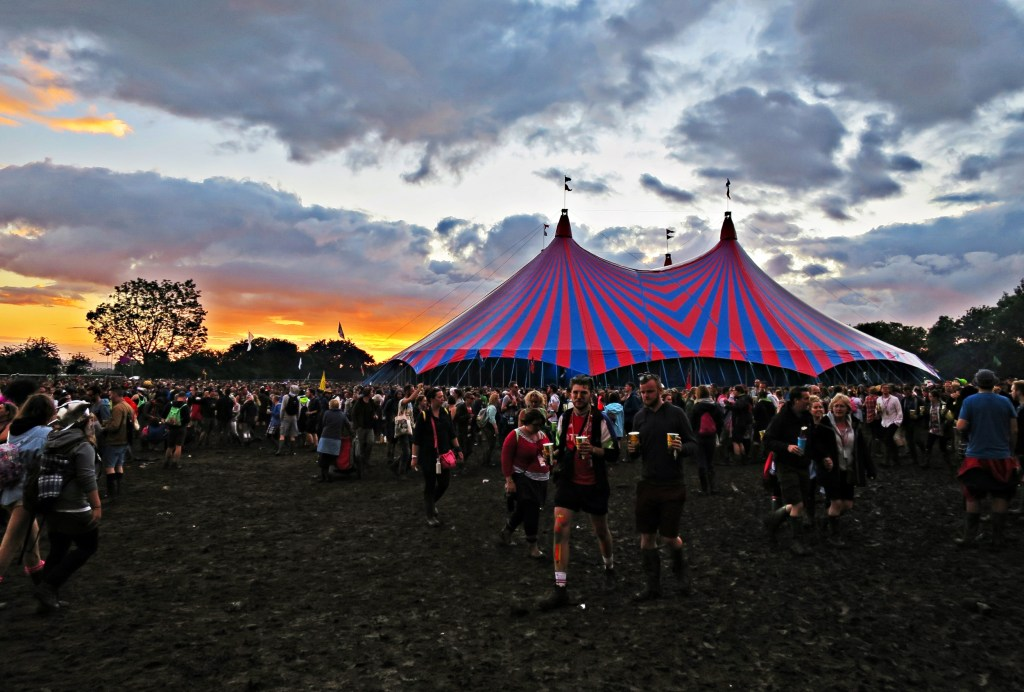 Glastonbury 2016 25 June Saturday Evening Sunset at John Peel WS