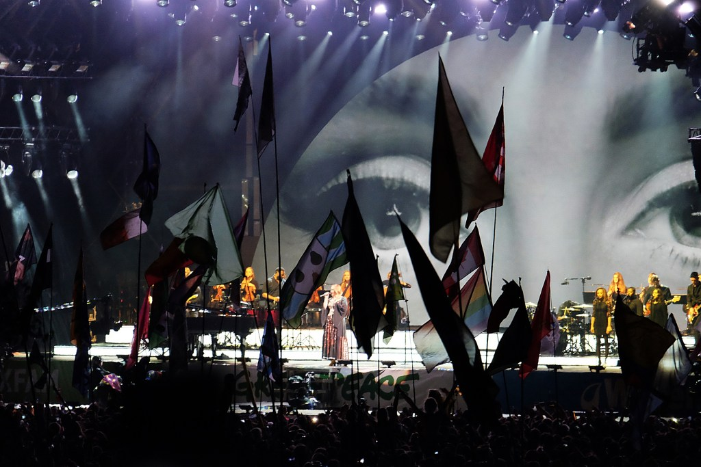 Glastonbury 2016 25 June Saturday night Adele close WS