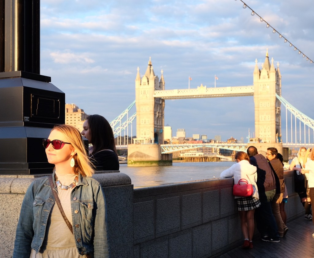 Amber Lavelle and Tower Bridge in London