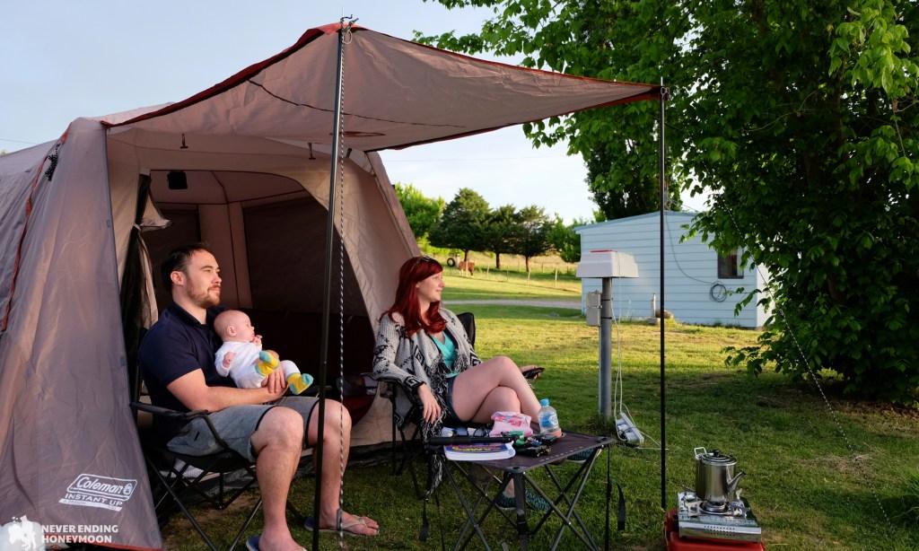 NSW road trip Coleman Instant Up Tent