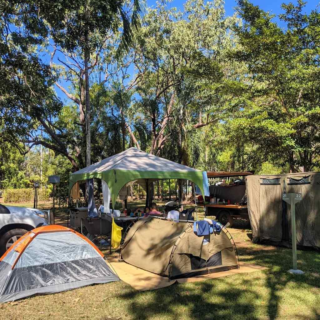 A campsite at Cooinda Resort