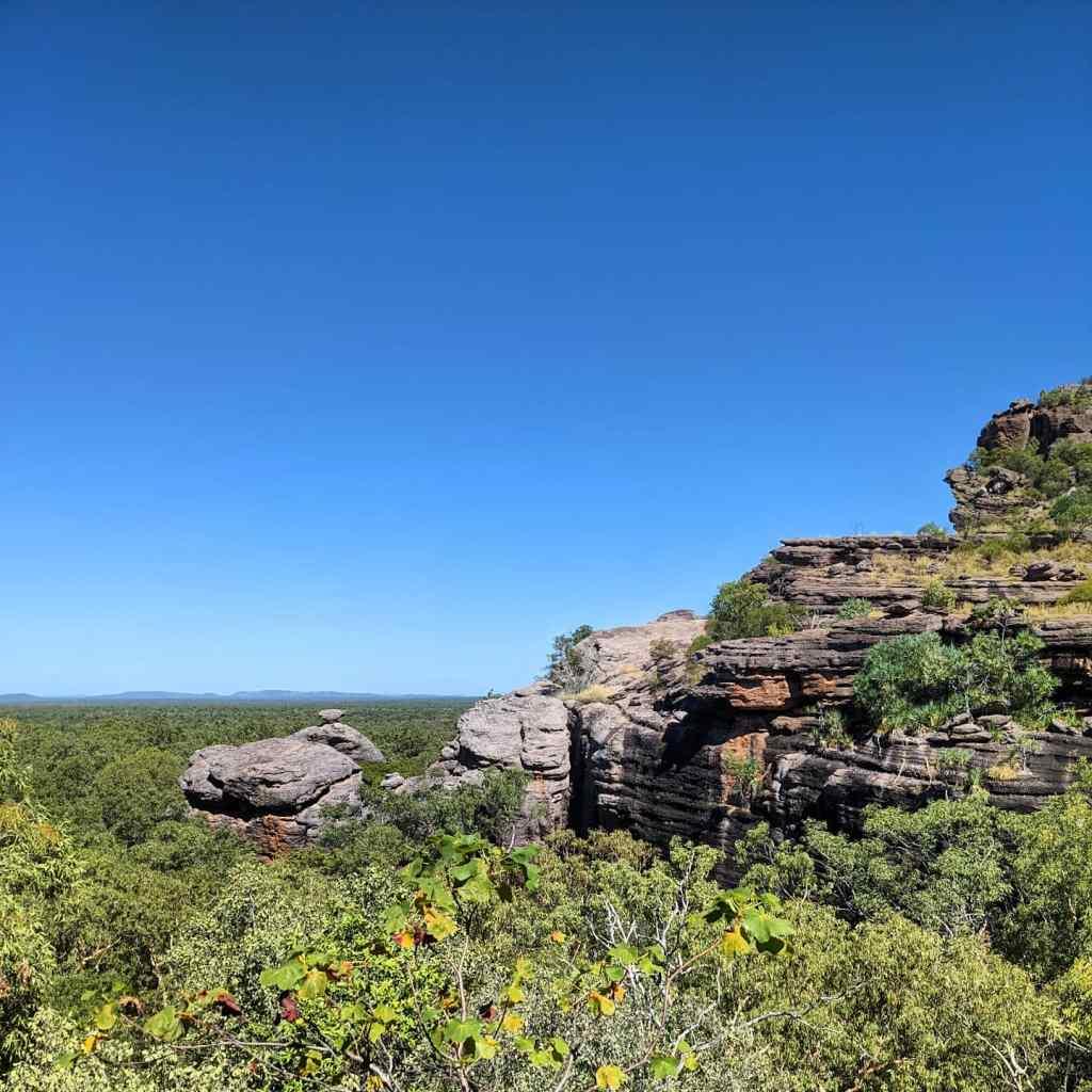 A ragged mountain range in Kakadu National Park