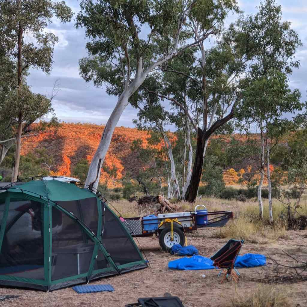 NT holiday West MacDonnell Ranges camping