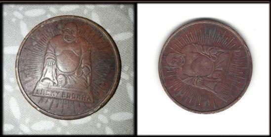 Buddha good luck coin