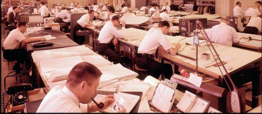 1960's draftsmen at work