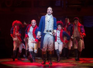 """Lin-Manuel Miranda in the title role of the musical """"Hamilton"""" at the Richard Rodgers Theatre in New York."""