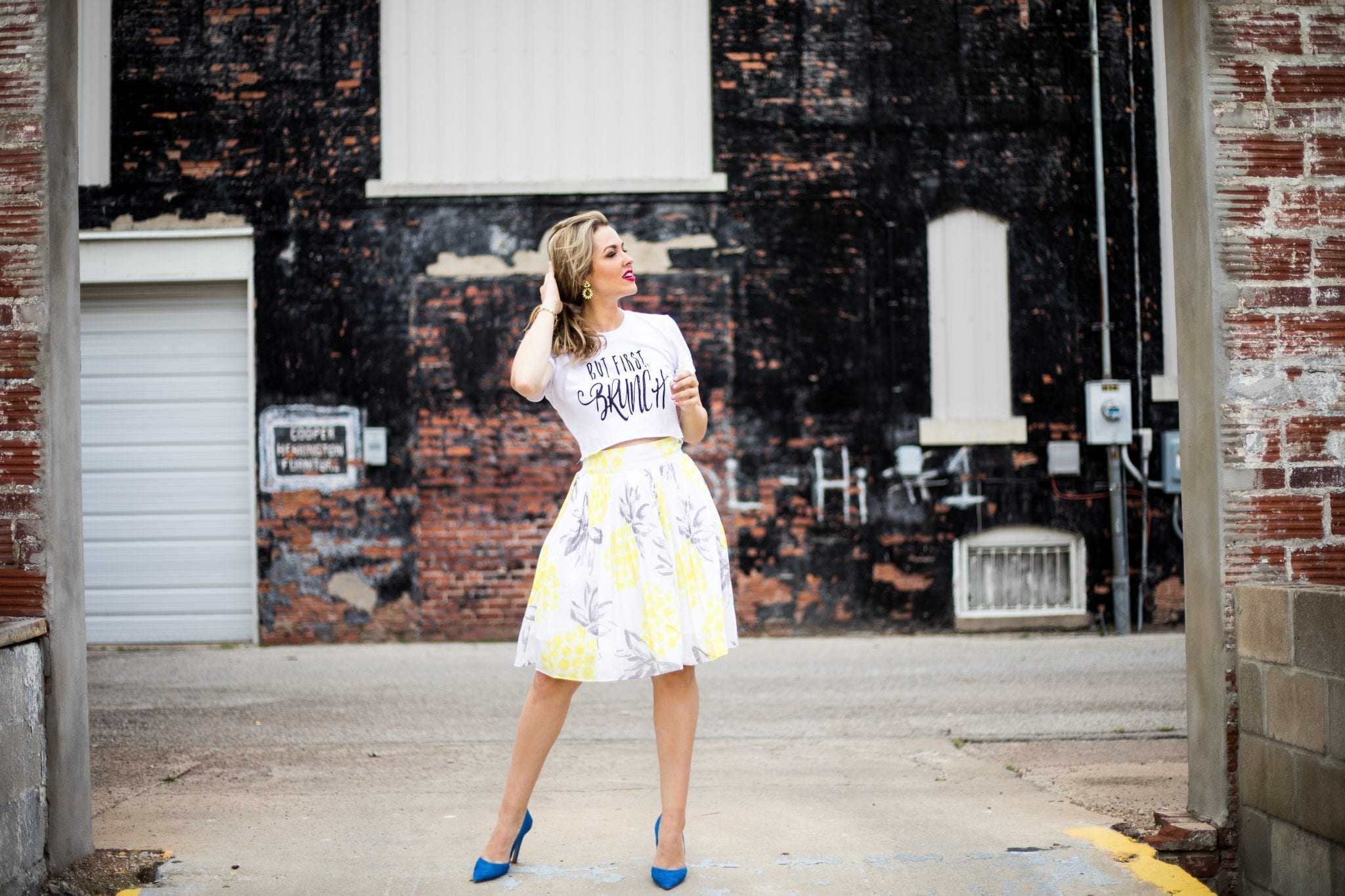 but first brunch shirt giveaway | monetize your blog with affiliate links | Cute Crop Top | venndy platform for bloggers | never skip brunch apparel line | Cara Newhart - Denver Style Blogger