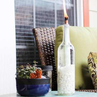 Tiki Wine Bottle DIY