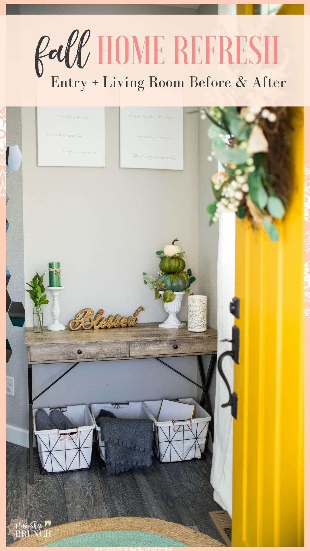 fall decor ideas | fall decor not orange | fall decor ideas for the home | fall decorations for home | never skip brunch by cara newhart #decor #fall #neverskipbrunch