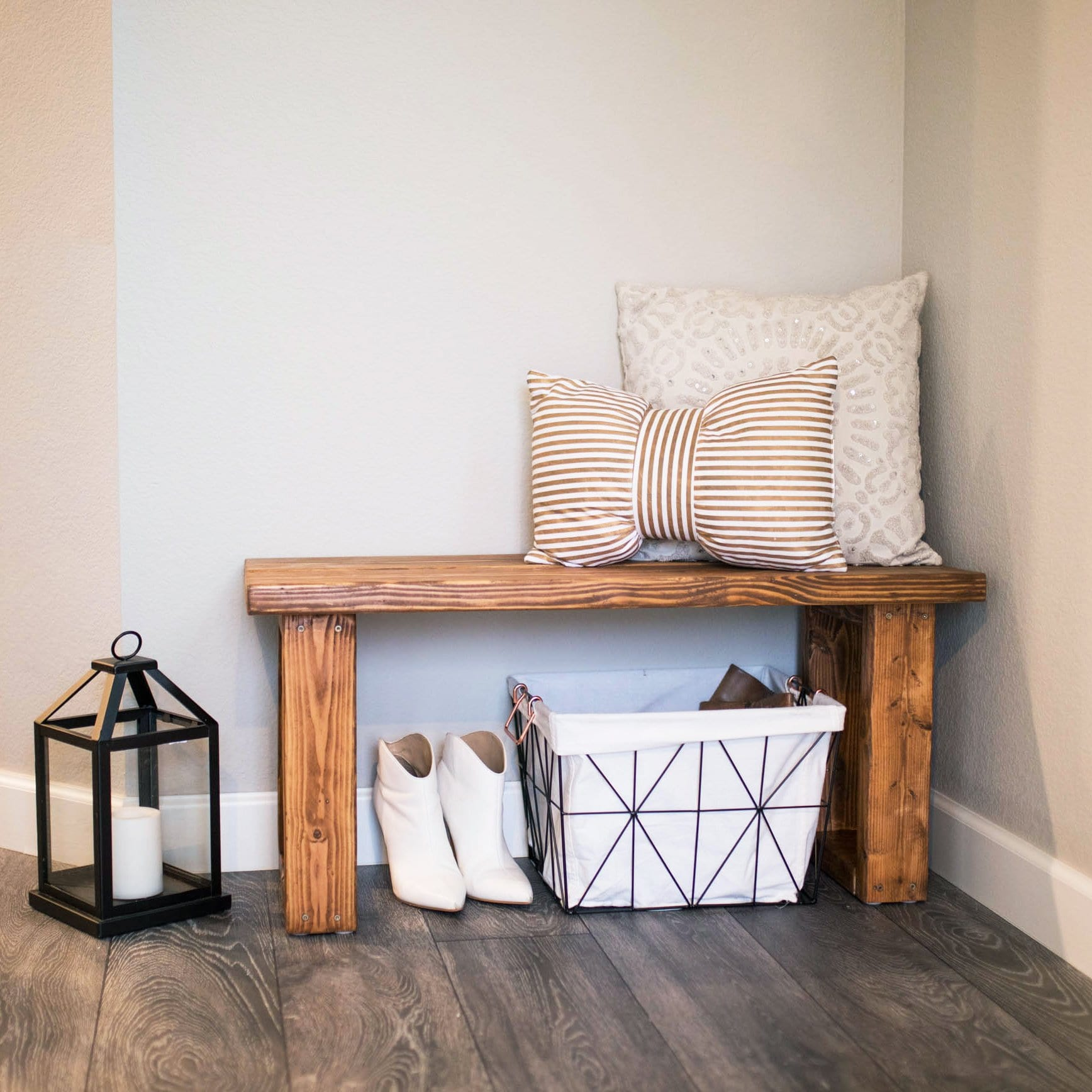 Make This Gorgeous Diy Entryway Bench For Under 12 Never Skip Brunch