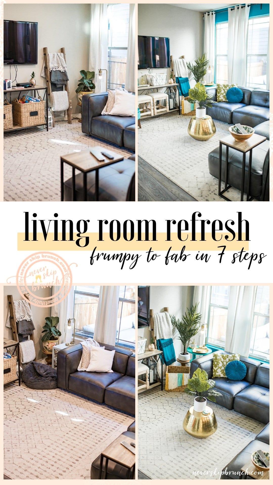 living room decor | Living Room Ideas | living room decor ideas | living room designs | living room paint color ideas | living room refresh | Never Skip Brunch by Cara Newhart | #livingroom #home #decor #neverskipbrunch