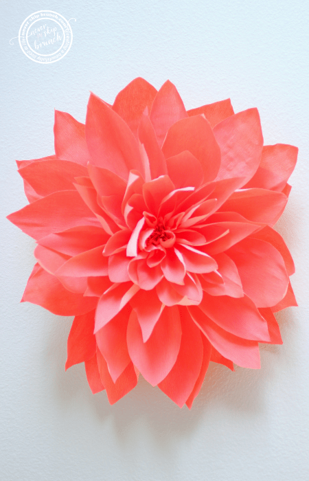 DIY Wall Art — Giant Paper Flower Tutorial