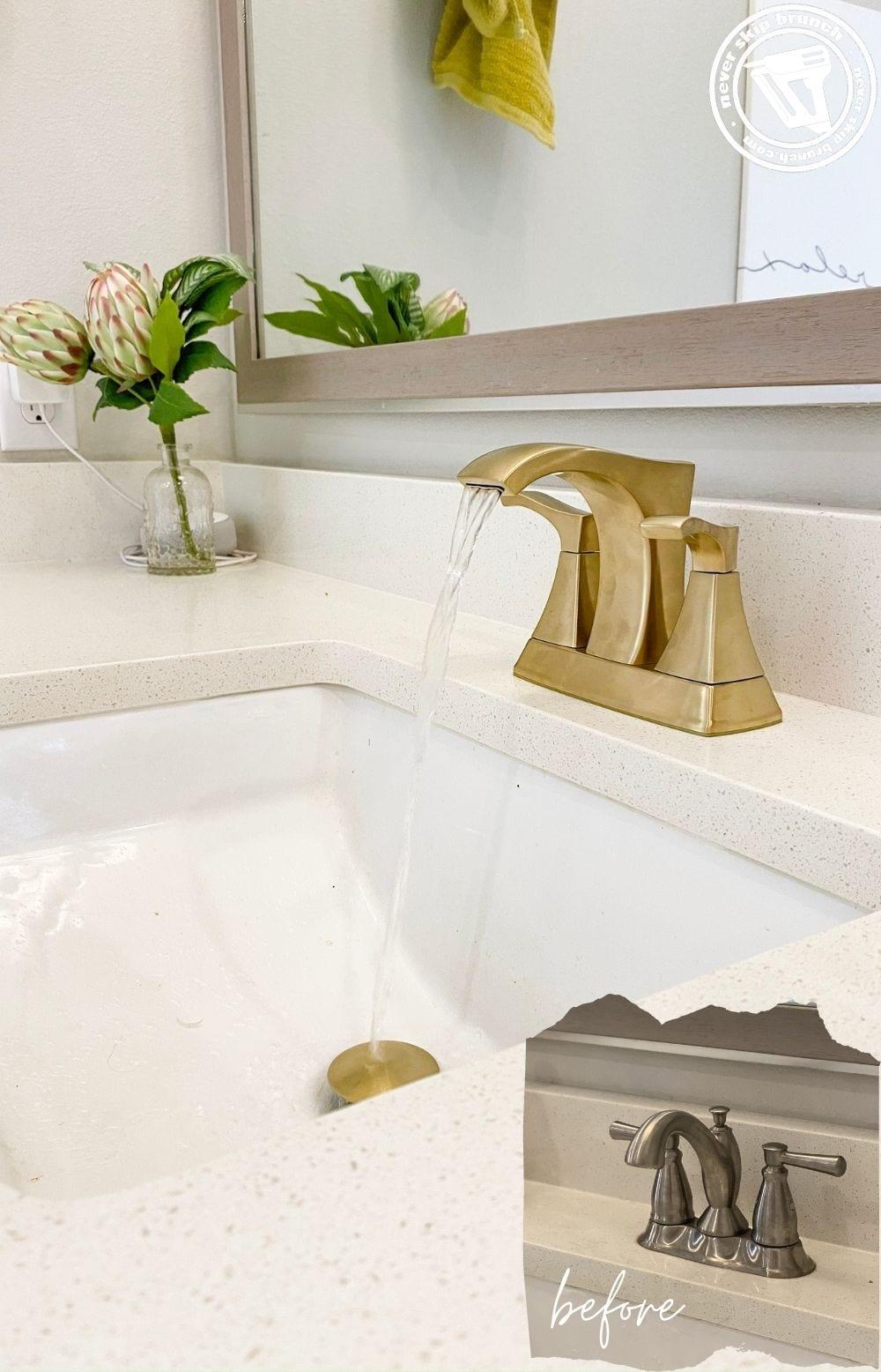change a centerset bathroom faucet